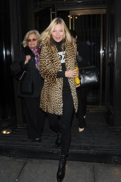 Kate Moss at the Wolseley Restaurant.