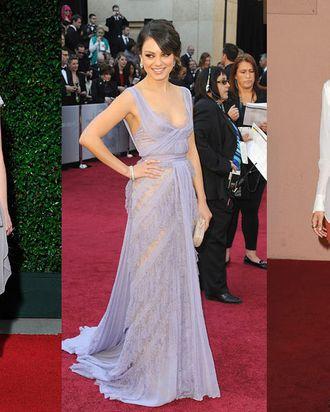 Emma Stone, Mila Kunis, and Elizabeth Olsen.