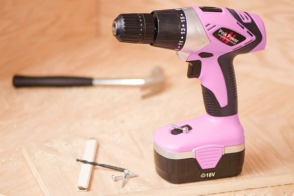 Pink Power PP182 18V Cordless Electric Drill Driver Set