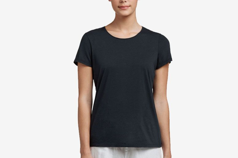 9ccd0d86 Best thin-collared black T-shirt. James Perse Luxe Lotus Jersey Tee