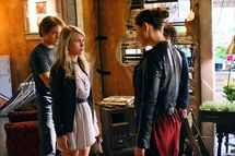 The CW           THE SECRET CIRCLE           PICTURED (L-R): Louis Hunter as Nick Armstrong, Brittany Robertson as Cassie Blake, Phoebe Jane Tonkin as Faye Chamberlain, and Jessica Parker Kennedy as Melissa           Photo Credit: David Gray/The CW           ? 2011 The CW Network, LLC. All rights reserved.