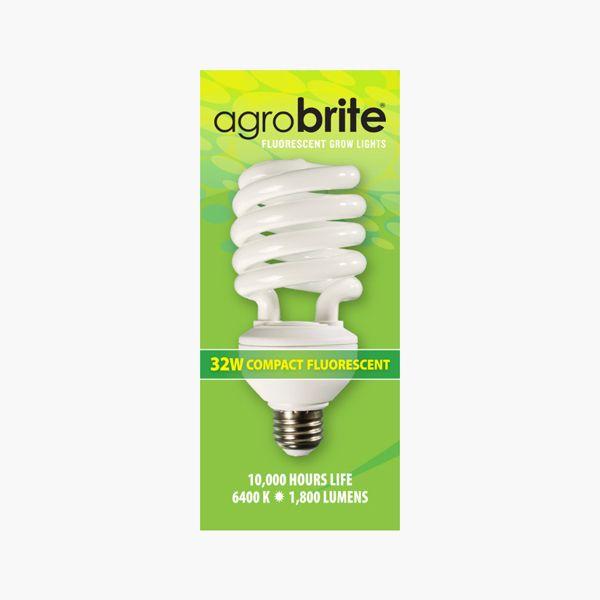 Hydrofarm Agrobrite Compact Fluorescent Spiral Grow Lamp