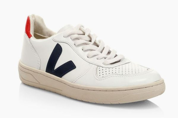 Veja V-10 Leather Low-Top Sneakers
