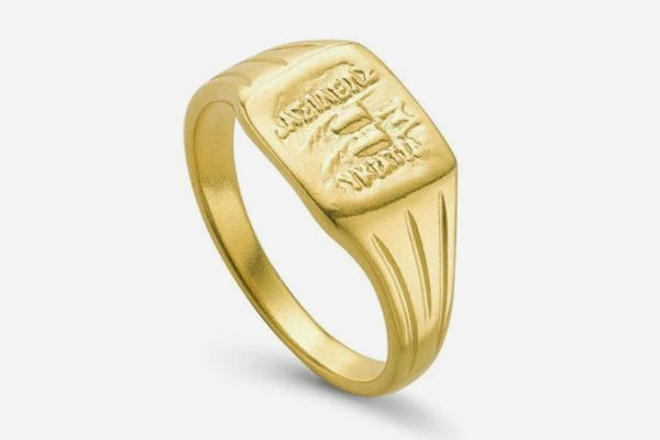 Missoma Lucy Williams Gold Square Signet Ring