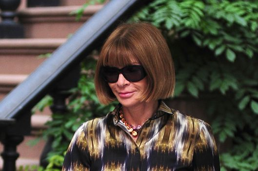 NEW YORK, NY - JUNE 11: Anna Wintour sighting on June 11, 2012 in New York City. (Photo by Alo Ceballos/FilmMagic)