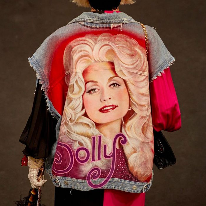 Image result for Gucci fashion show pays tribute to Dolly Parton