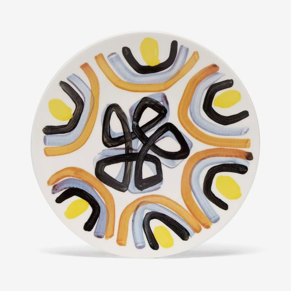 Peter Pilotto Painted Ceramic Dessert Plate
