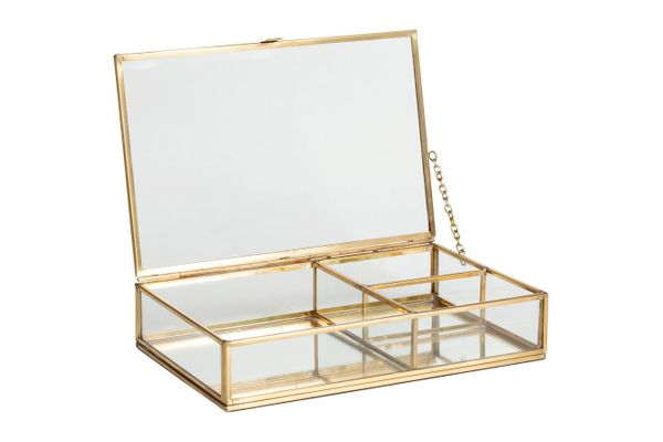 H&M Clear Glass Jewelry Box