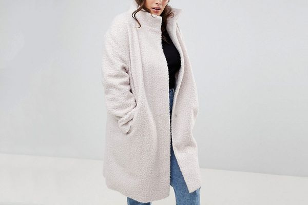 Oversized Coat with Funnel Neck