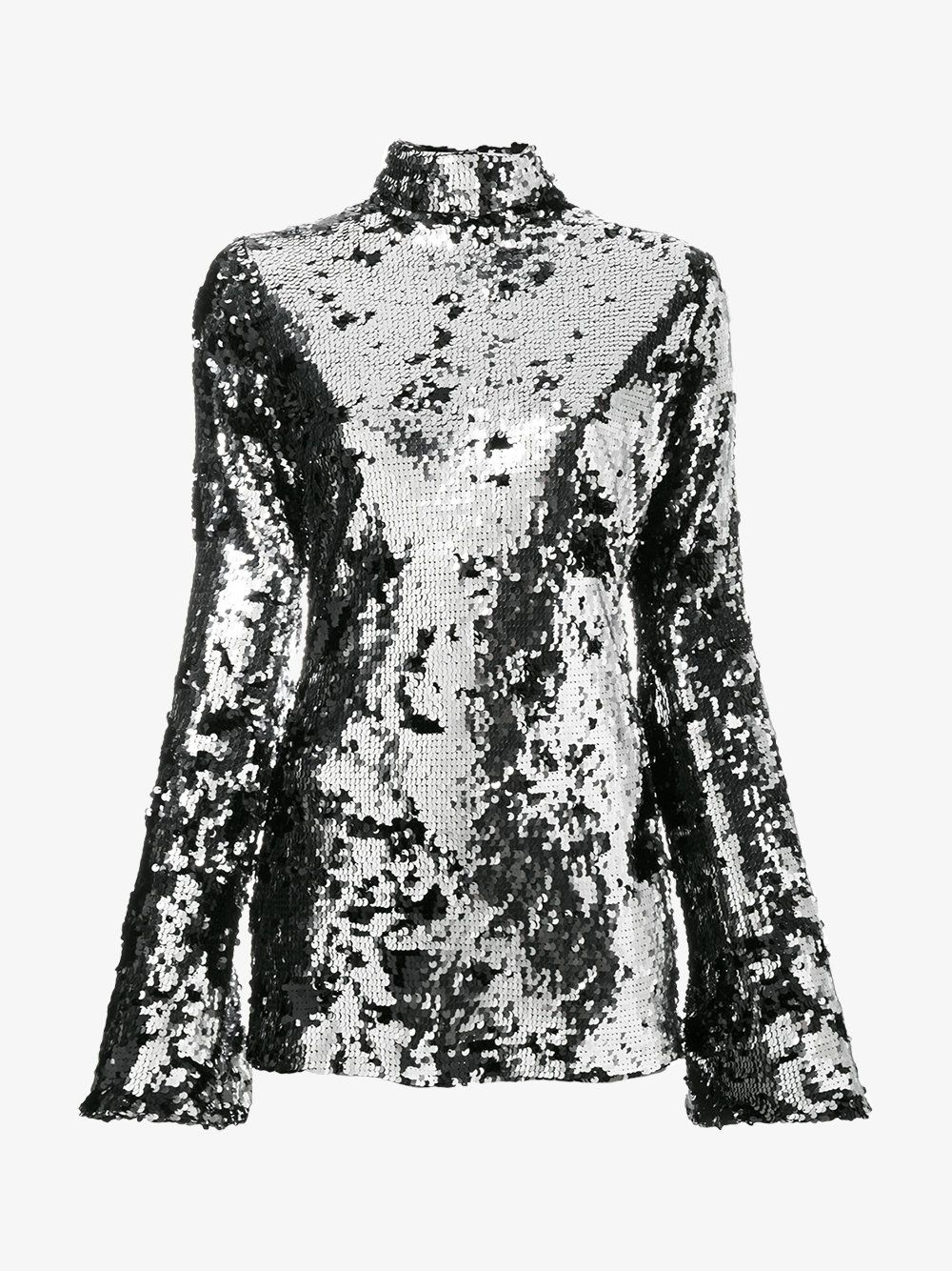 Halpern EXCLUSIVE Bell Sleeve Sequin Minidress
