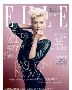 Agyness Deyn for <em>Elle</em> UK.
