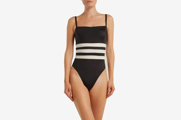 Solid & Striped x Re/Done The Malibu Color-block Swimsuit
