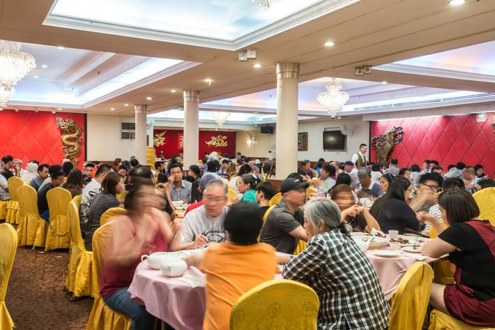 Festive Family Style Cantonese Standards At Royal Seafood Photo Paul Wagtouicz