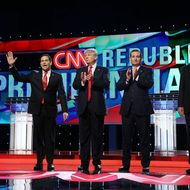 Republican Presidential Candidates Debate In Miami Area