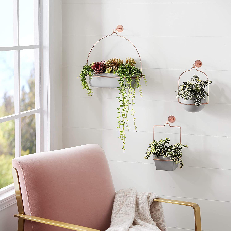 Pottery hanging planter Ceramics pottery Ceramic hanging plant pot Wall planter Midcentury style Ceramic hanging planter for succulent