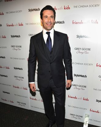 Actor Jon Hamm attends the Cinema Society & People StyleWatch with Grey Goose screening of