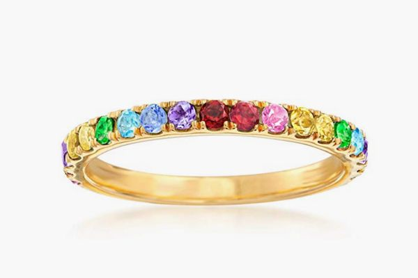 Ross-Simons Gemstone Stackable Ring in 18kt Gold Over Sterling