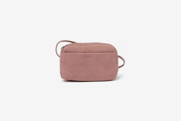 Baggu Mini Leather Purse in Taro Nubuck