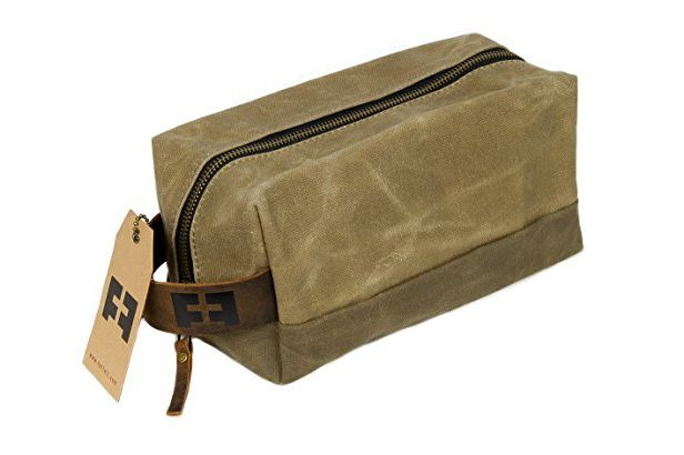 6062548547 Best waxed-cotton toiletry bag. The Dylan Dopp Kit by Fat Felt
