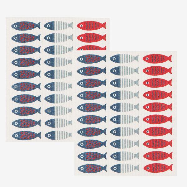 Now Designs Swedish Dishcloths, Set of 2, Flamingos Print