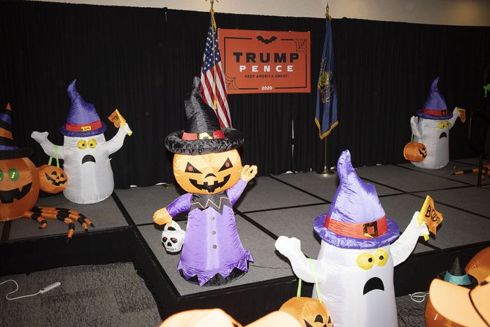 Halloween 2020 Trump Inside the Trump Pence 2020 Witch Hunt Halloween Party
