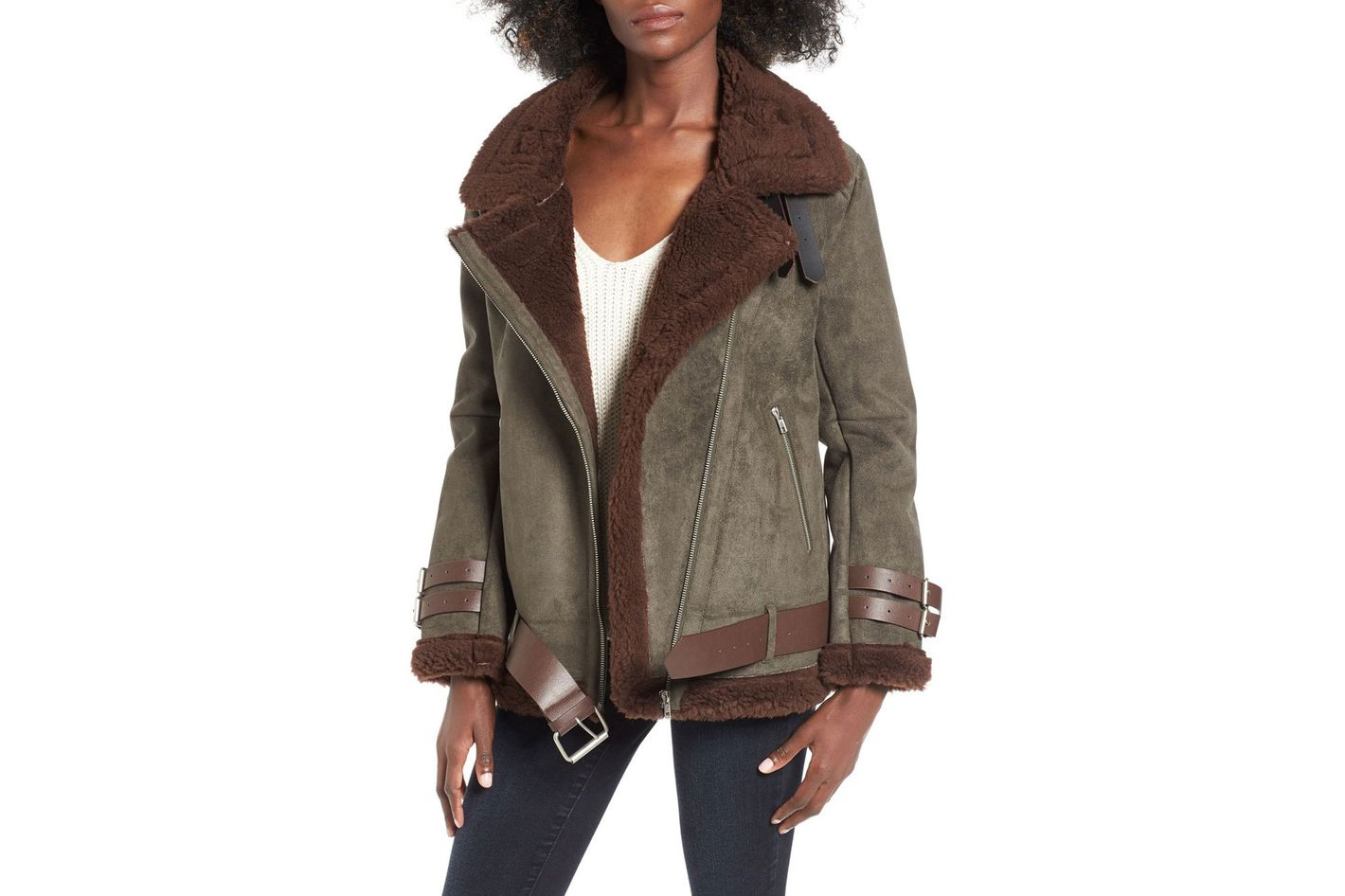 J.O.A. Faux Shearling Jacket