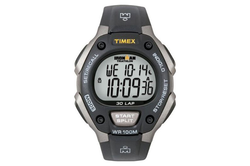 Timex Men's T5E901 Ironman Classic 30 Full-Size Black/Gray Resin Strap Watch