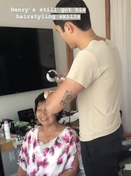 Henry Golding Did His Mom S Hair For The Red Carpet