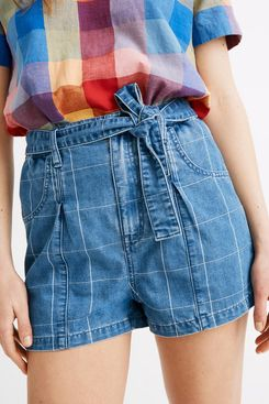 Madewell Denim Paperbag Shorts