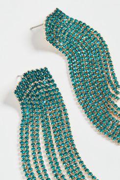Stella + Ruby Indicolite Crystal Earrings