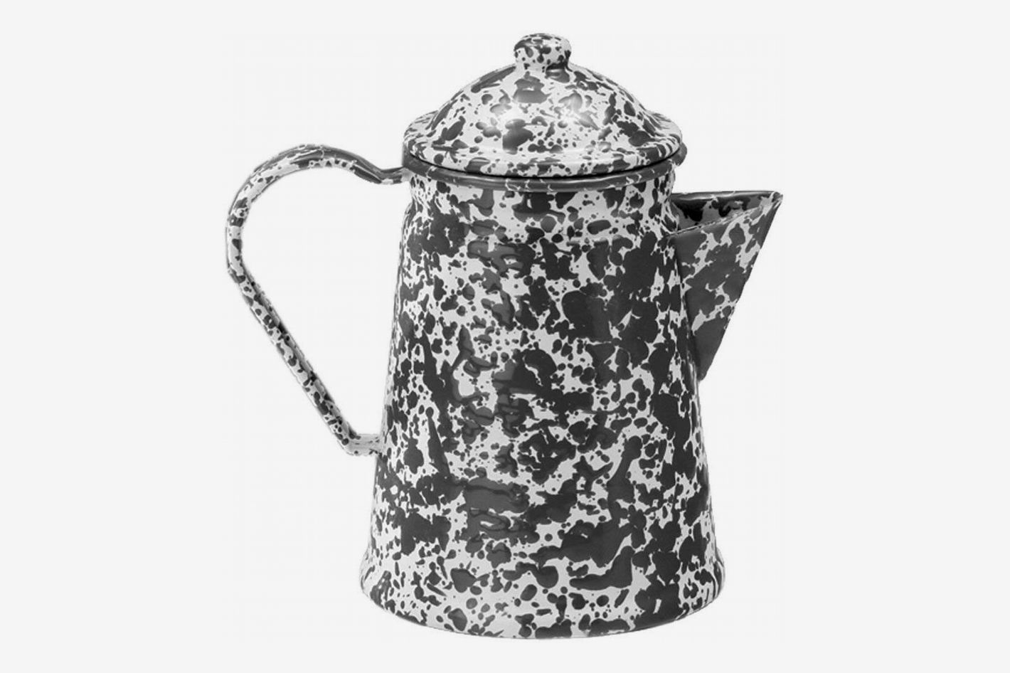 Crow Canyon Home Enamelware Coffee Pot, 1.5 quart