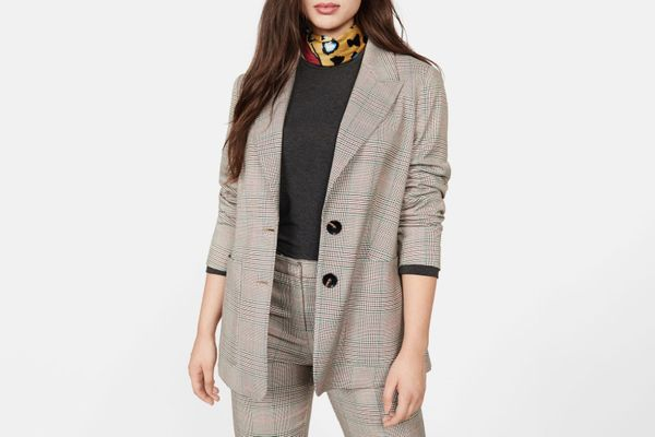 Violeta Check Structured blazer