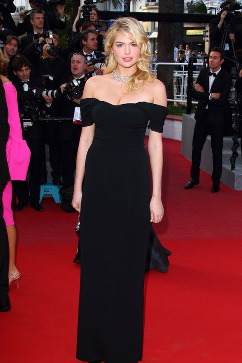 CANNES, FRANCE - MAY 23:  Kate Upton attends the 'On The Road' premiere during the 65th Annual Cannes Film Festival at Palais des Festivals on May 23, 2012 in Cannes, France.  (Photo by Mike Marsland/WireImage)