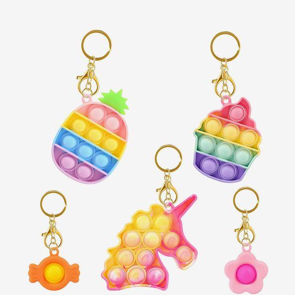 HiUnicorn Mini Keychains Unicorn Fidget Toys Pack