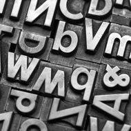 A view of lead letters in different types. Taken in studio with a 5D mark III.