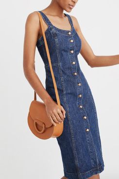 Madewell denim button front tank dress, nice for the summer