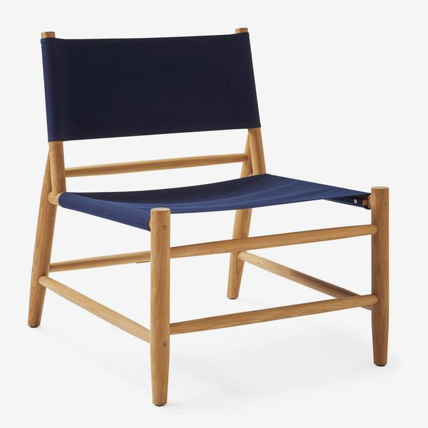 Serena & Lily Pier Lounge Chair - Navy
