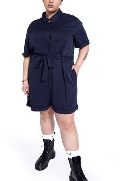 BP + Wildfang Short Sleeve Romper with Removable Belt
