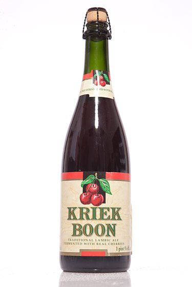 "Brouwerij Boon (Belgium)<br>$14.99 for 25 oz. <br><strong>Type:</strong> Lambic<br><strong>Tasting notes:</strong> ""Sweet and tart—a fresh cherry flavor, along with subtle hints of raspberries and vanilla oak creeping in. Great with dinner and dessert or a picnic in the park."" <br>—Renee Esposito, co-owner, Breukkelen Bier Merchants<br>"