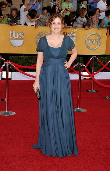 LOS ANGELES, CA - JANUARY 29:  Actress Jenna Fischer arrives at the 18th Annual Screen Actors Guild Awards at The Shrine Auditorium on January 29, 2012 in Los Angeles, California.  (Photo by Jason Merritt/Getty Images)