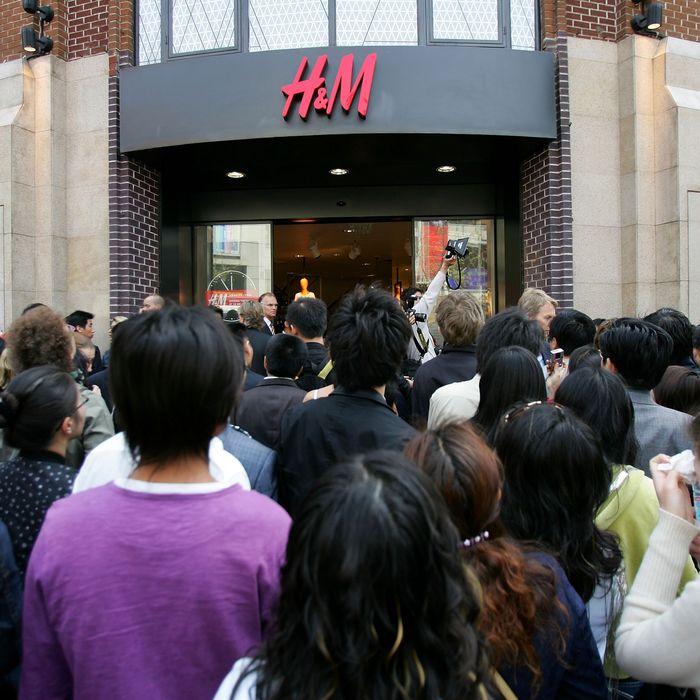 H&M's Shanghai store.