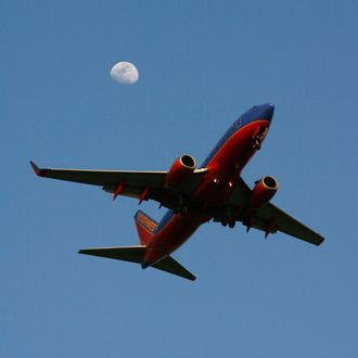 A Southwest airlines jet comes in for landing at Los Angeles International Airport (LAX) on April 15, 2008 in Los Angeles, California.