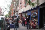 Line outside Cafe Habana post-tropical stormicane.