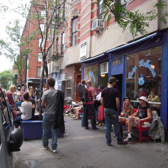 Line outside Cafe Habana post-tropical stormicane.