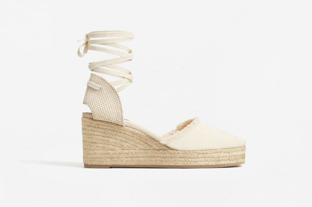 Mango 'Esparto' Linen Wedge
