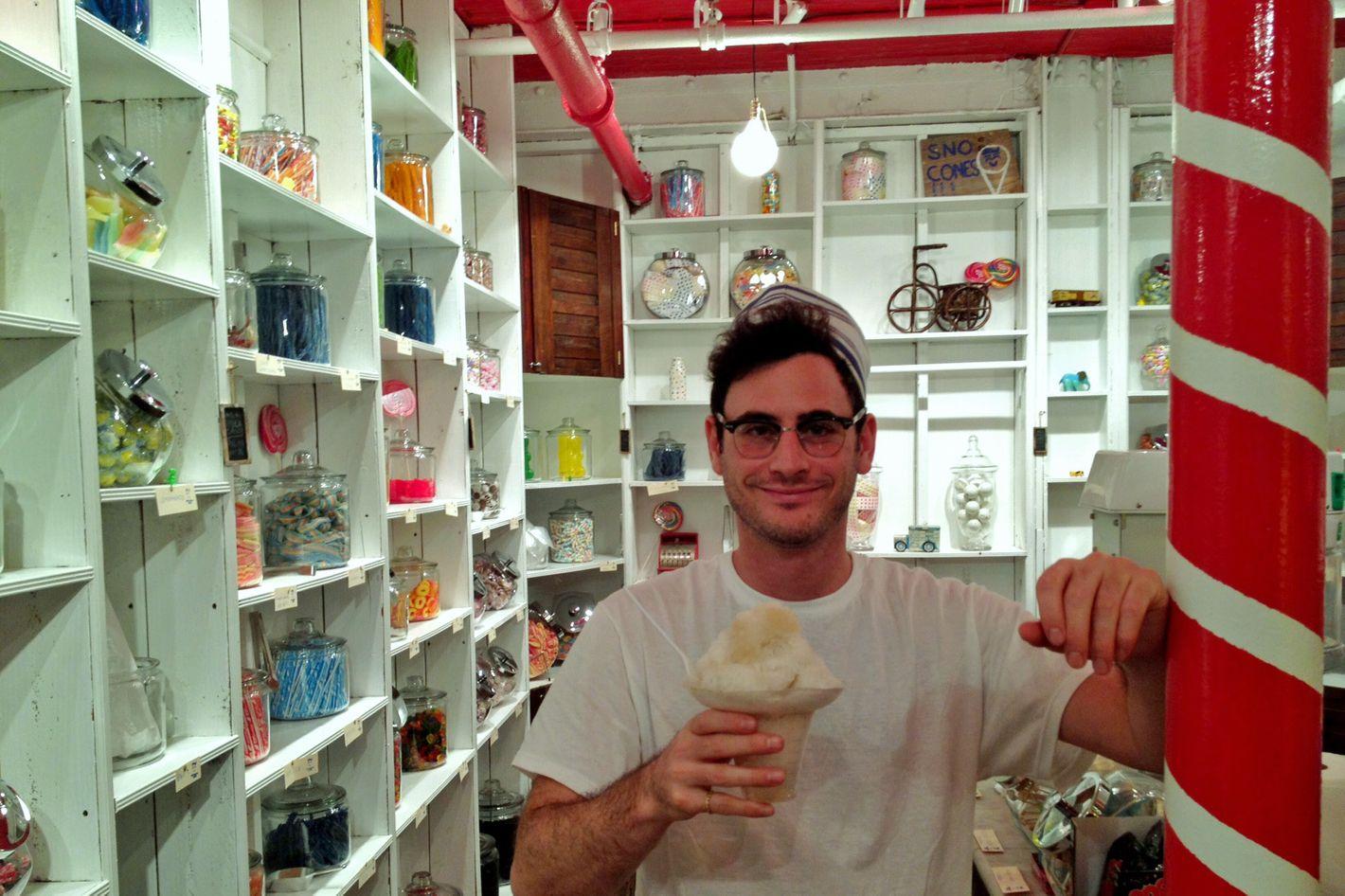 Handsome Dan, in the shop.