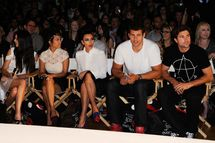 NEW YORK, NY - SEPTEMBER 12:  (L-R) Kendall Jenner, Kourtney Kardashian, Kim Kardashian, Kris Humphries, and Brody Jenner attend the Abbey Dawn by Avril Lavigne Spring 2012 fashion show during Style360 at the Metropolitan Pavilion on September 12, 2011 in New York City.  (Photo by Ilya S. Savenok/Getty Images)