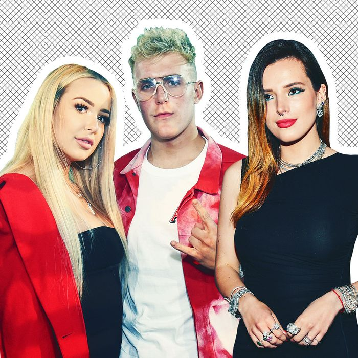Tana Mongeau, Jake Paul, Bella Thorne.