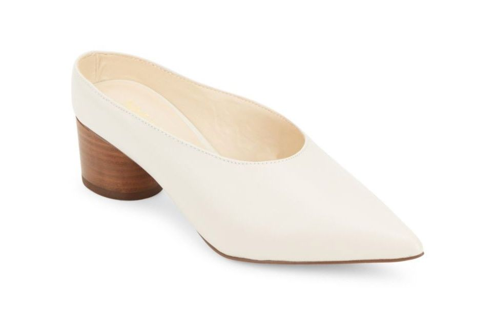 Nine West Zianne Point Toe Leather Mules