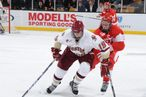 BOSTON, MA - FEBRUARY 7: Chris Kreider #19 of Boston College skates with puck against Boston University at the TD Banknorth Garden in the Beanpot Tournament on February 7, 2011 in Boston, Massachusetts.  (Photo by Steve Babineau/ Getty Images) *** Local Caption *** Cris Krieder